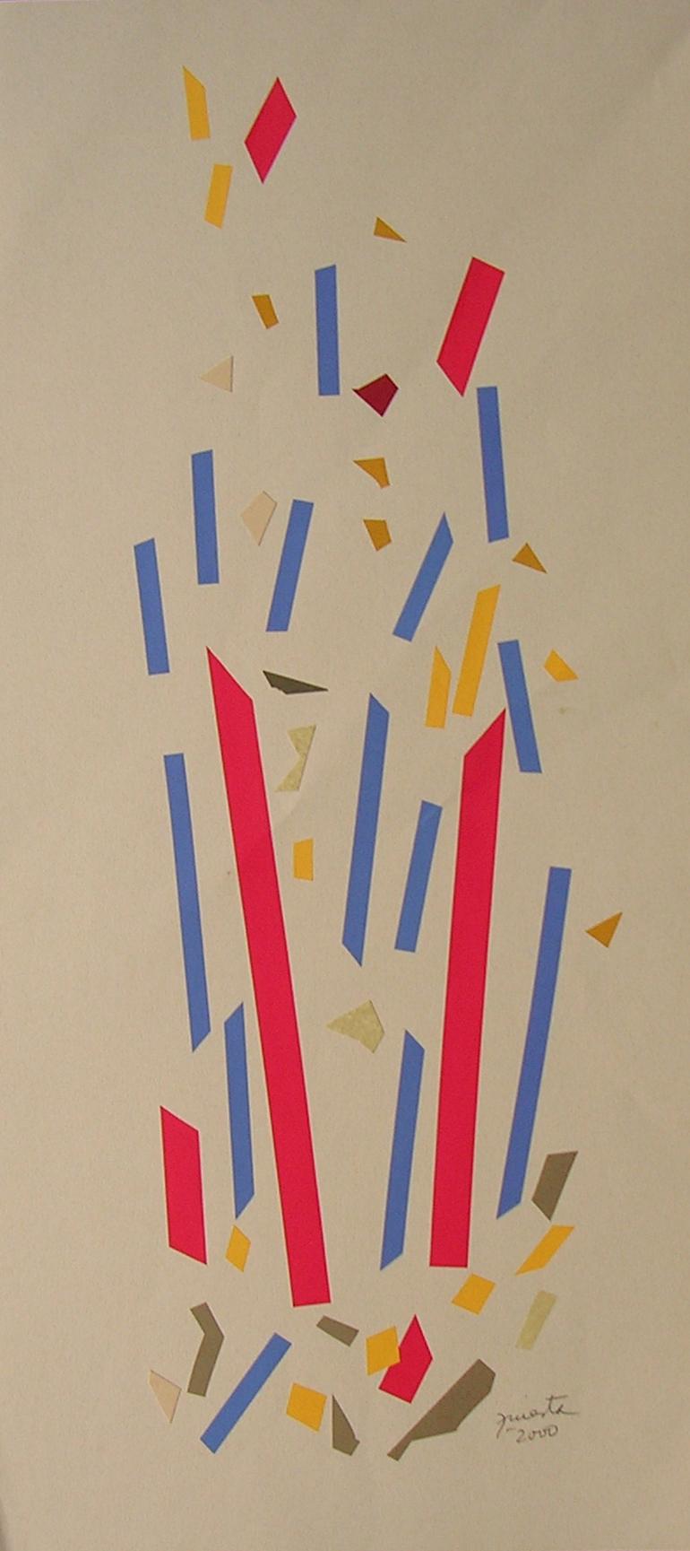Alegoría IV, papel collage 80 cm x 35 cm, 2000