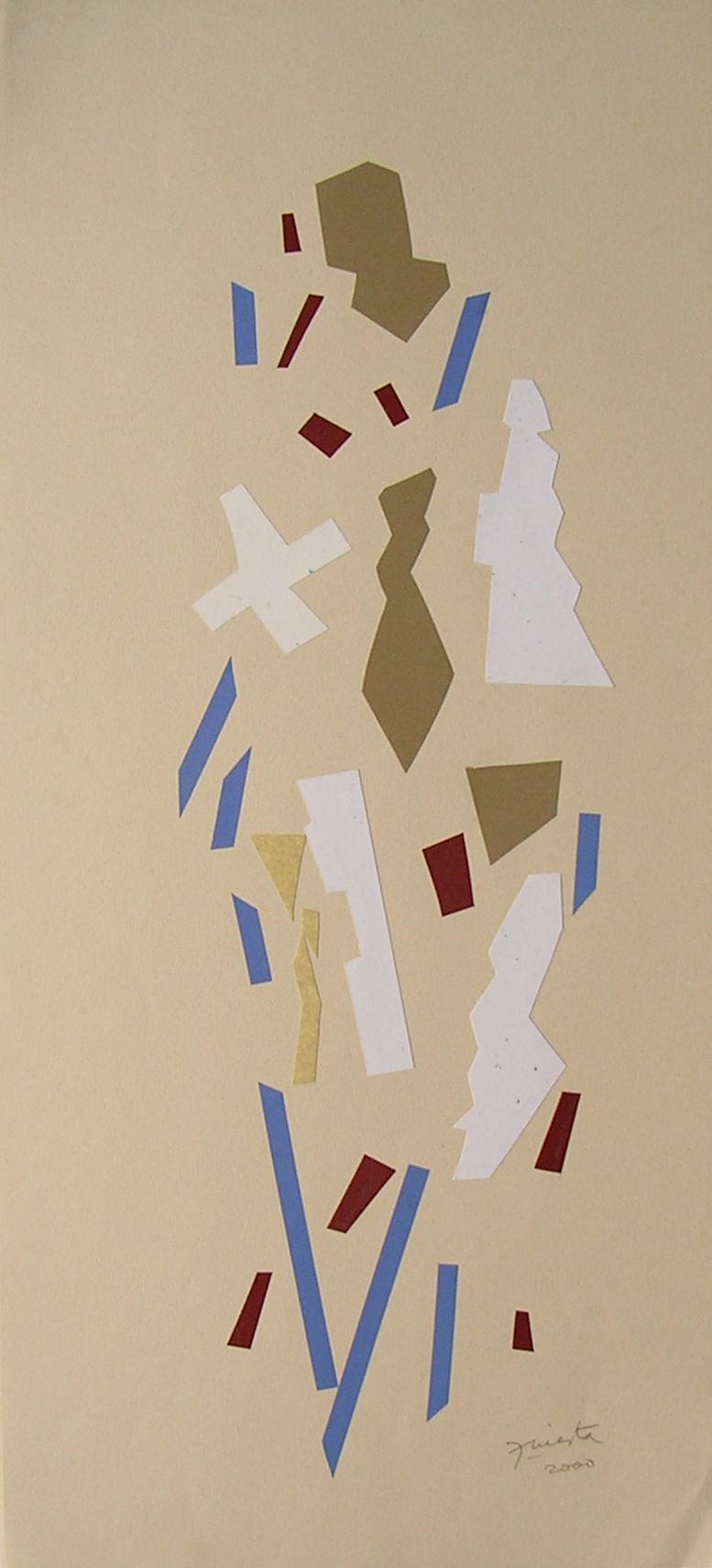 Alegoría II, papel collage 80 cm x 35 cm, 2000