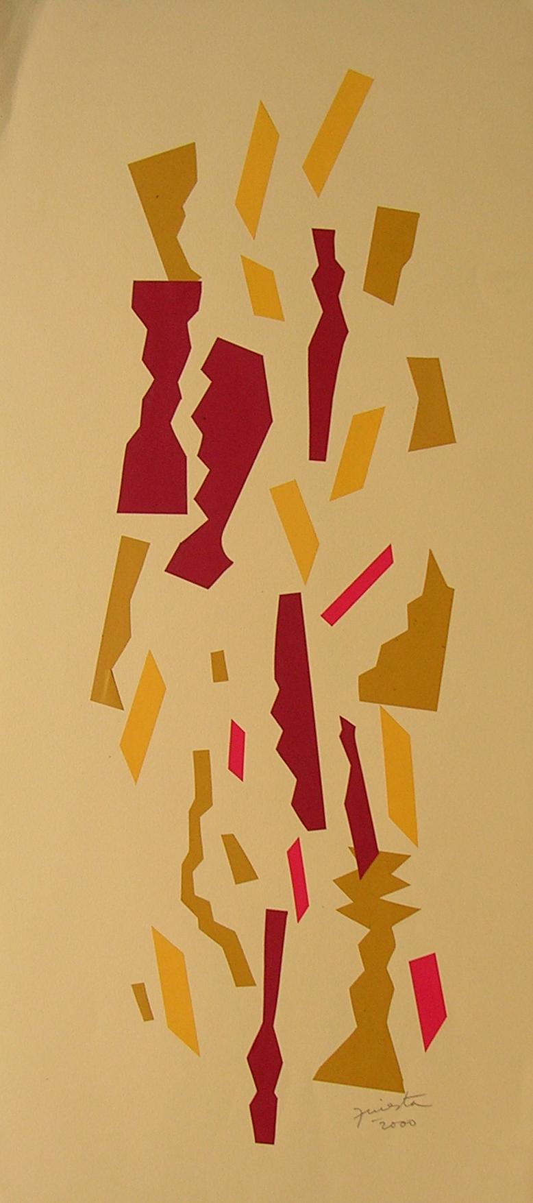 Alegoría I, papel collage 80 cm x 35 cm, 2000