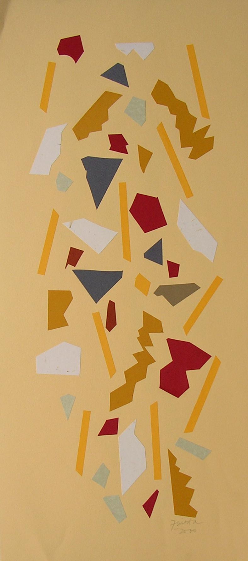 Alegoría XIV, papel collage 80 cm x 35 cm, 2000