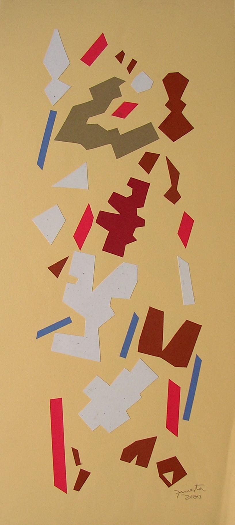 Alegoría XIII, papel collage 80 cm x 35 cm, 2000