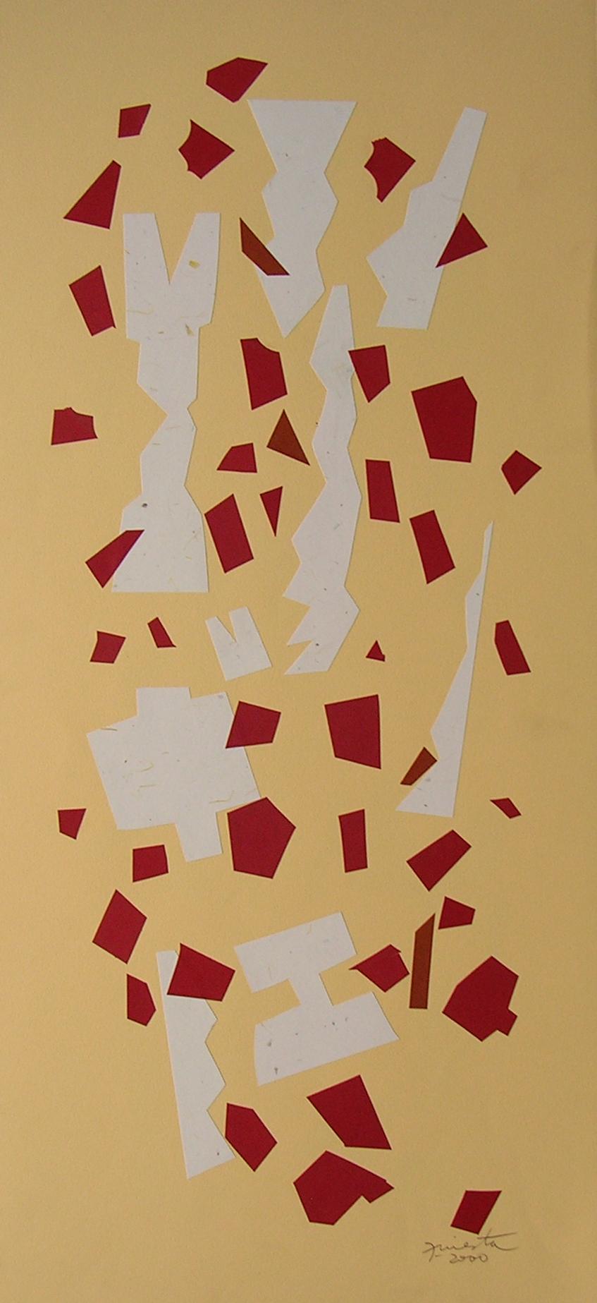 Alegoría XII, papel collage 80 cm x 35 cm, 2000