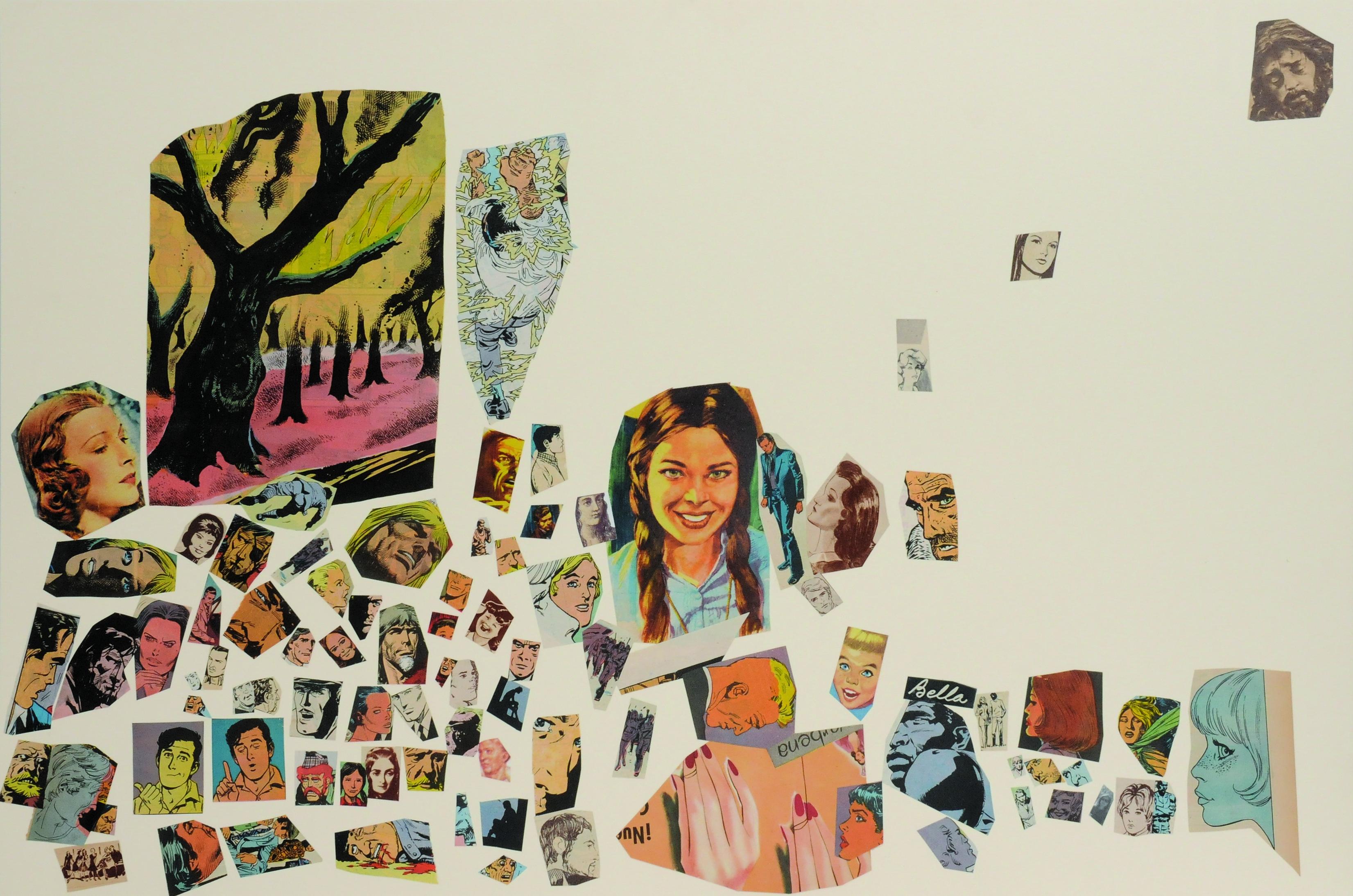 Bella, papel collage, 51 cm x 76 cm. 2008