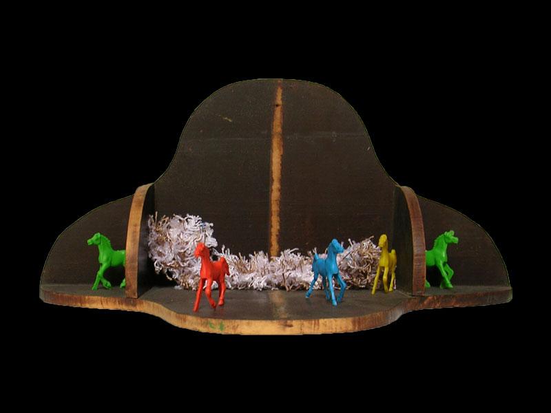 Caballos,instalación,  27 cm x 60 cm x 30 cm, 2006