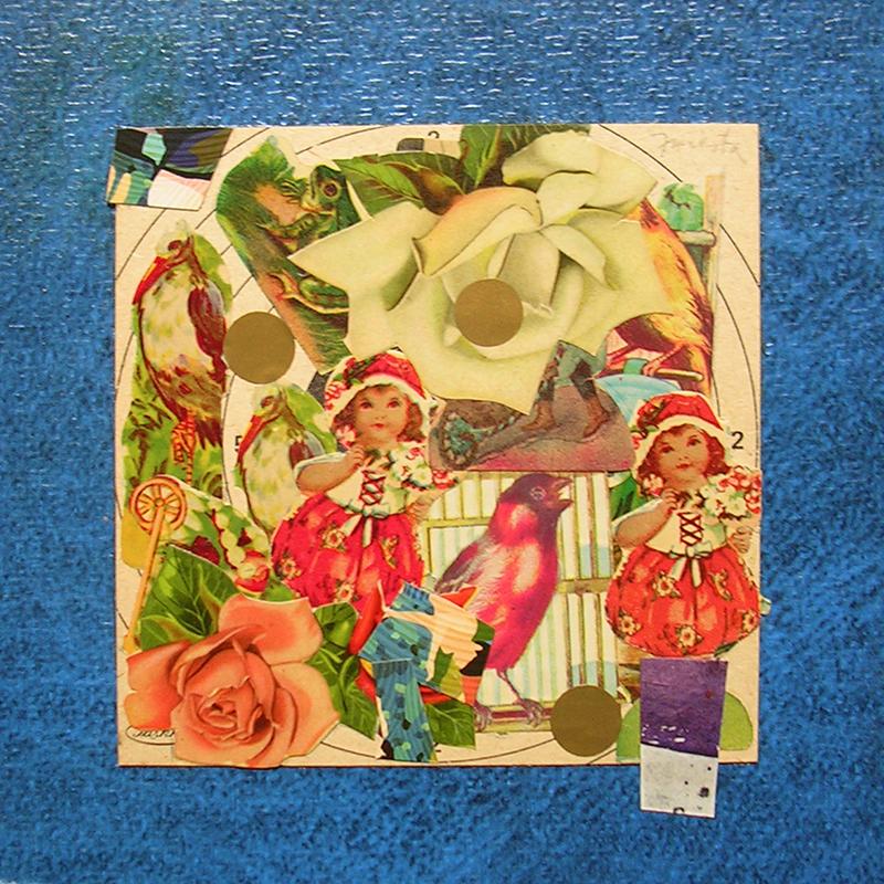 Cotidianeidad, papel collage 20 cm x 20 cm 1989-2006 (13)