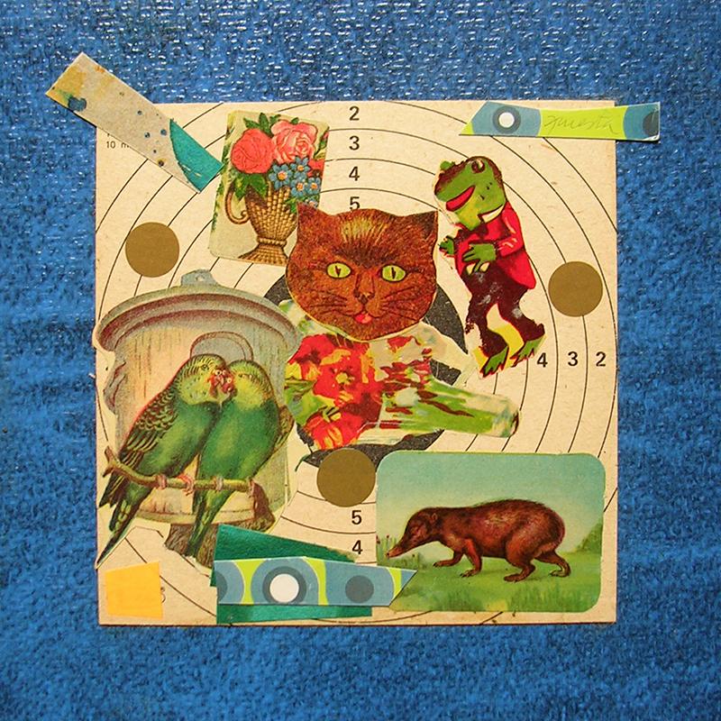 Cotidianeidad, papel collage 20 cm x 20 cm 1989-2006 (22)