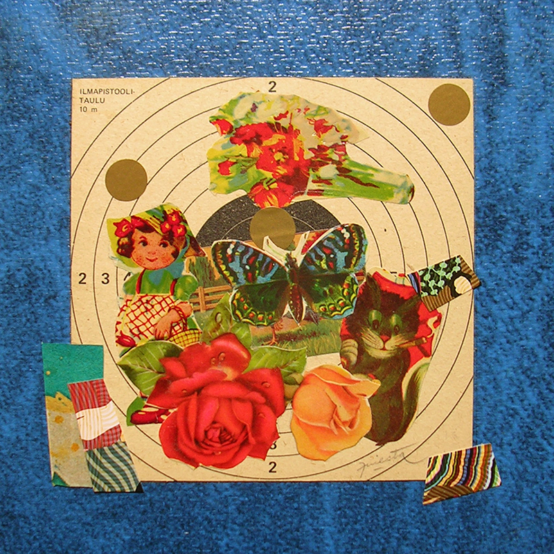Cotidianeidad, papel collage 20 cm x 20 cm 1989-2006 (25)