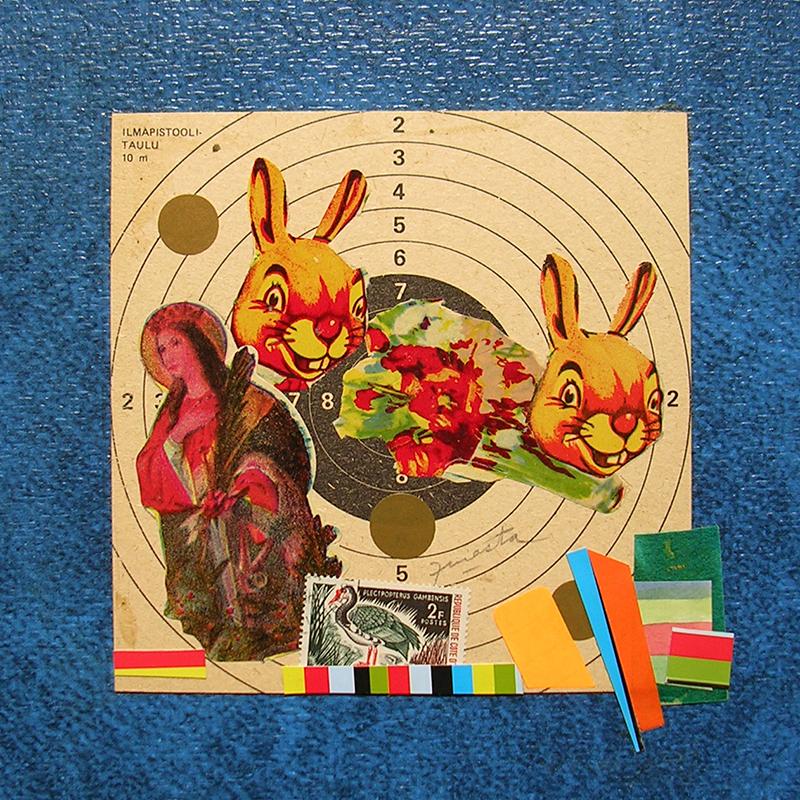 Cotidianeidad, papel collage 20 cm x 20 cm 1989-2006 (26)