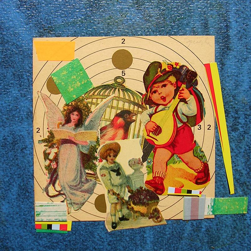 Cotidianeidad, papel collage 20 cm x 20 cm 1989-2006  (27)