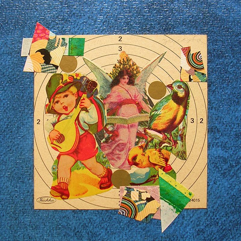 Cotidianeidad, papel collage 20 cm x 20 cm 1989-2006 (30)