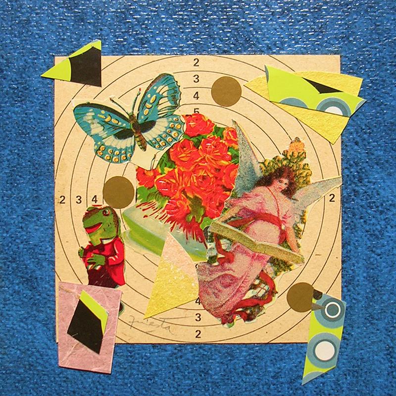 Cotidianeidad, papel collage 20 cm x 20 cm 1989-2006 (8)