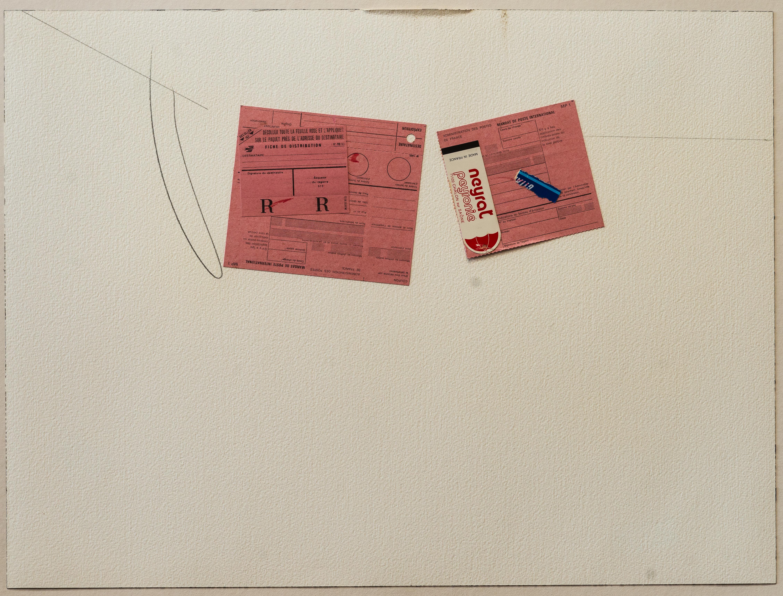 París, Ejercicio Cotidiano, lápiz y papel collage, 46 x 61 cm , 1980