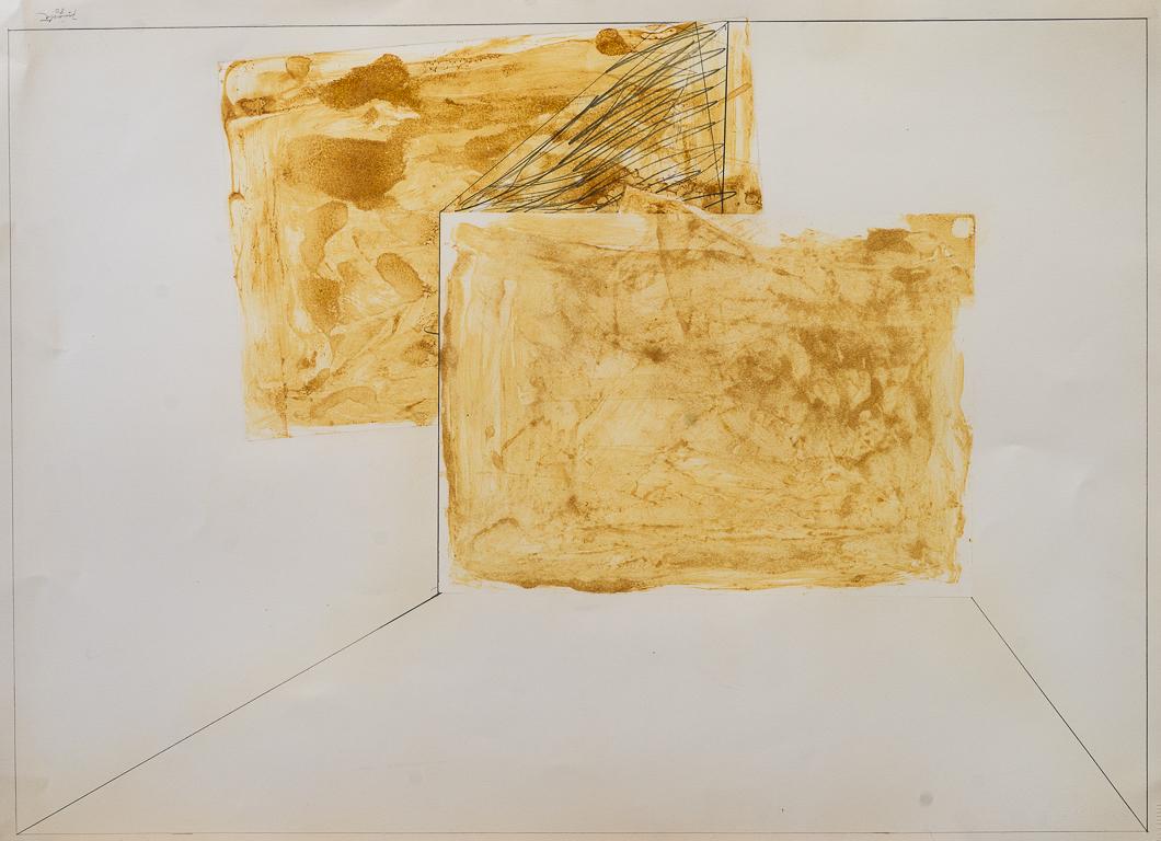 Bis,acrílico y lápiz, 52 cm x 72 cm, 1980