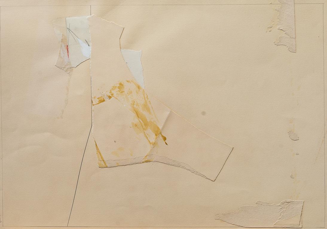 Final de fiesta II, lápiz y papel collage, 66 cm x 47 cm, 1980