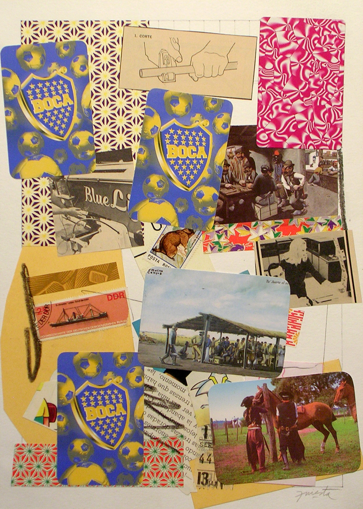 Ejercicios Cotidianos, Collage 34x24cm 2006 (22)