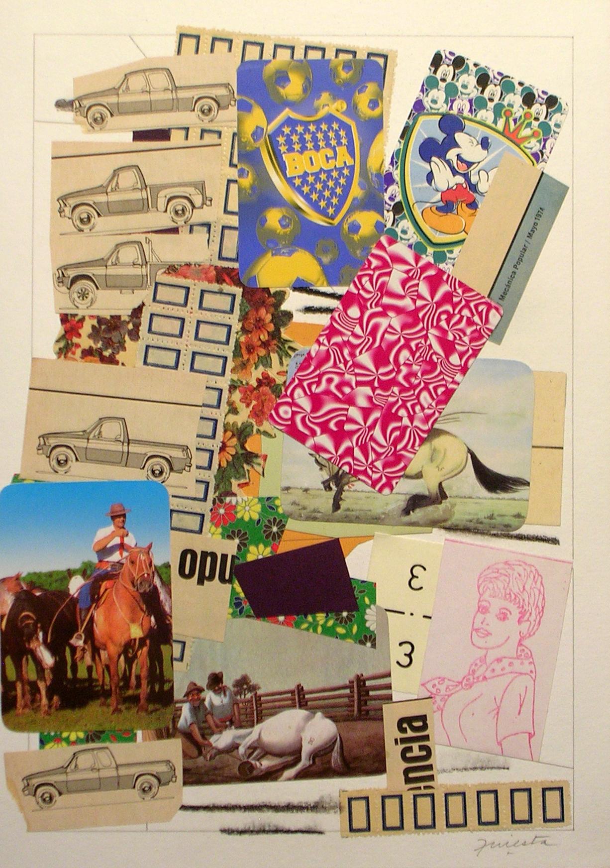 Ejercicios Cotidianos, Collage 34x24cm 2006 (23)
