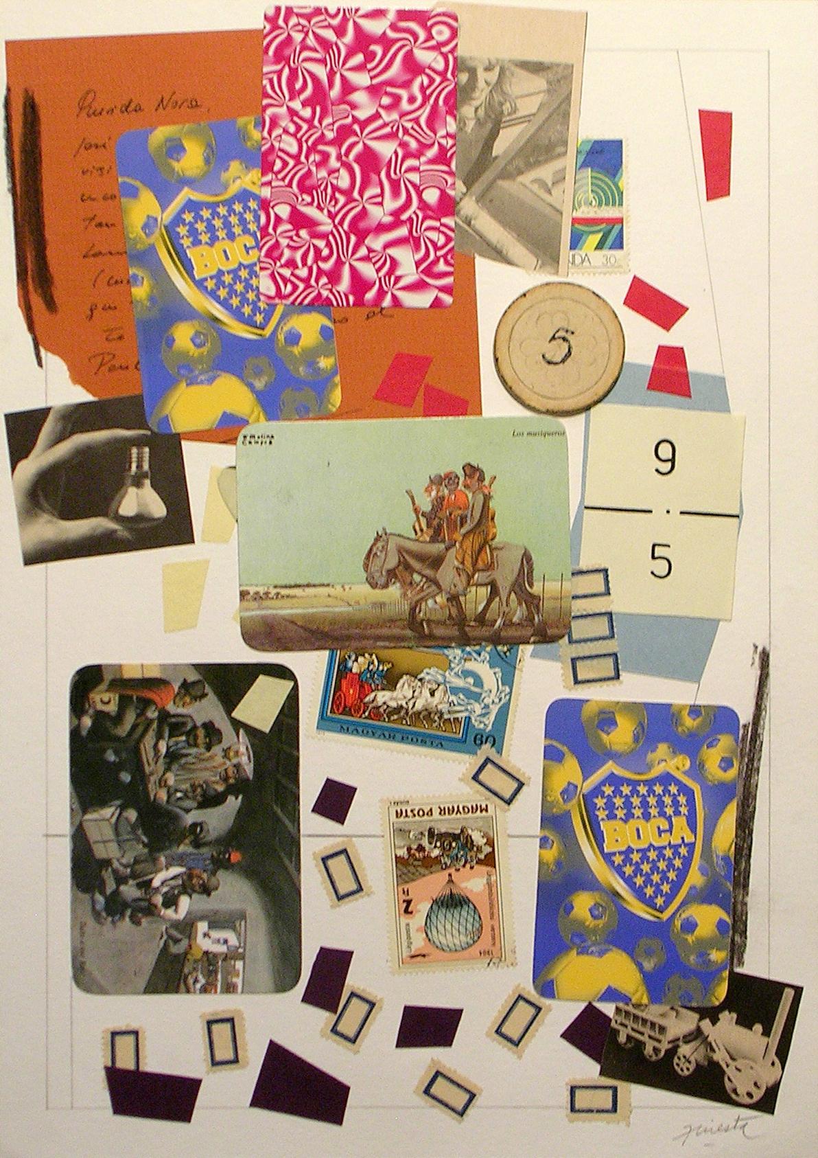 Ejercicios Cotidianos, Collage 34x24cm 2006 (9)