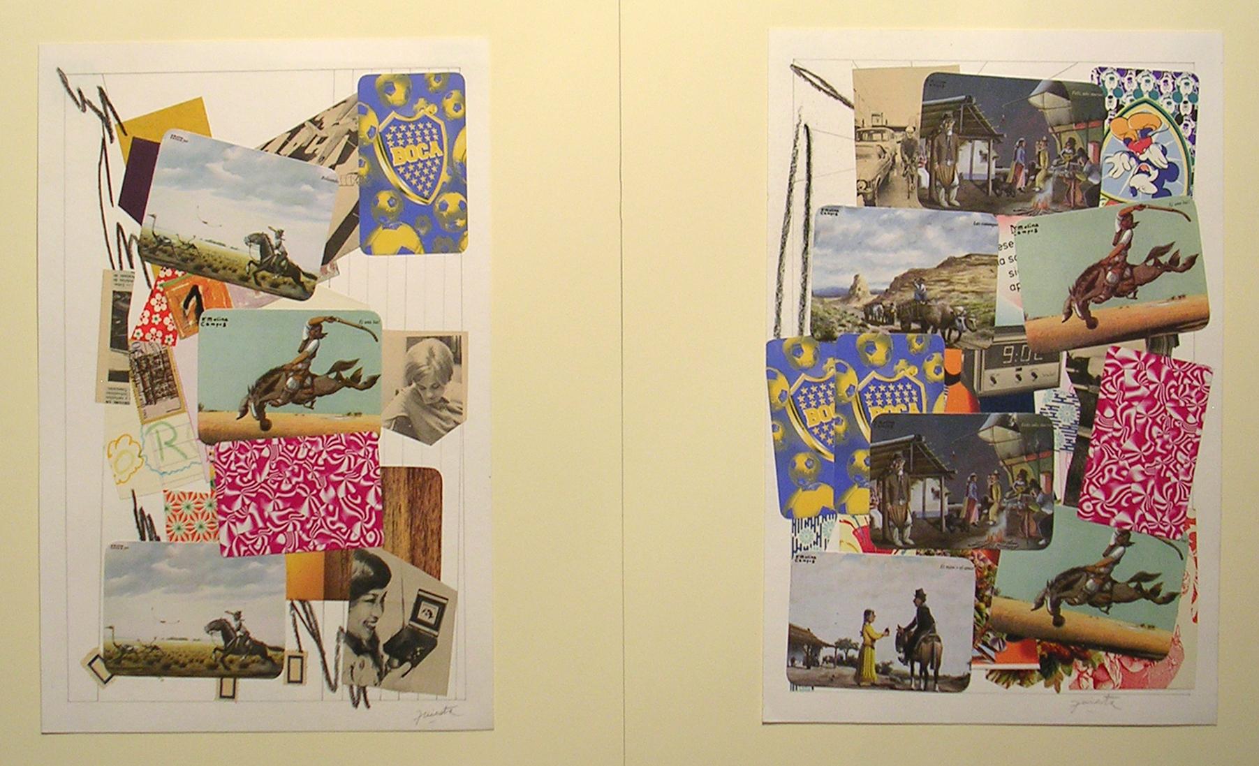 Ejercicios Cotidianos, Collage 34x24cm Cada uno 2006 (30)