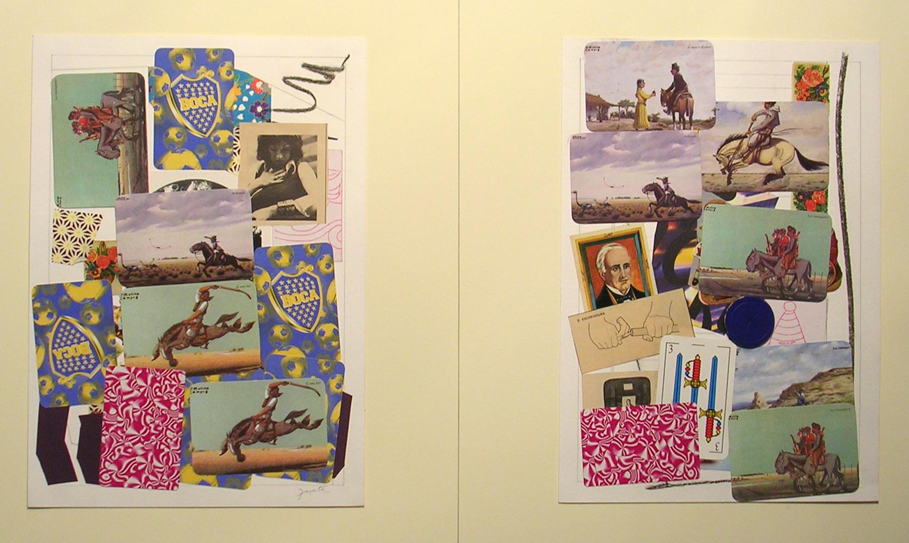 Ejercicios Cotidianos, Collage 34x24cm cada uno 2006 (32)