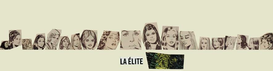 La élite, papel collage, 13,5 cm x 50 cm. 2008