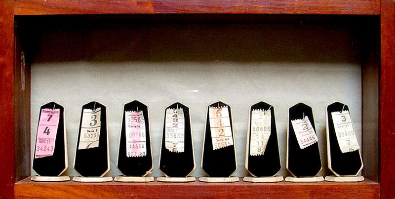 Miss Preferidos, objetos ensamblados, 21 cm x 46 cm, 1984
