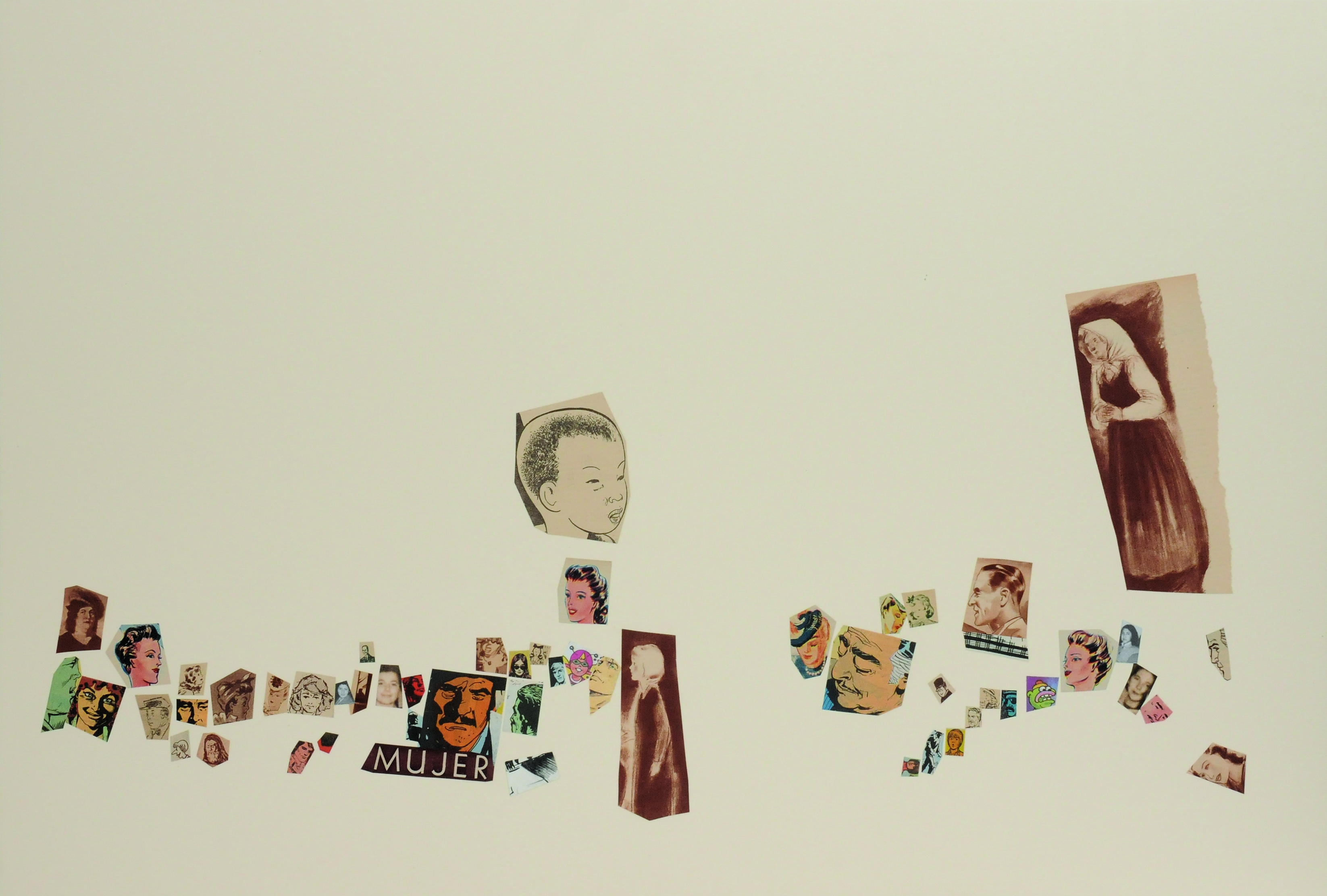 Mujer, papel collage, 51 cm x 76 cm. 2008