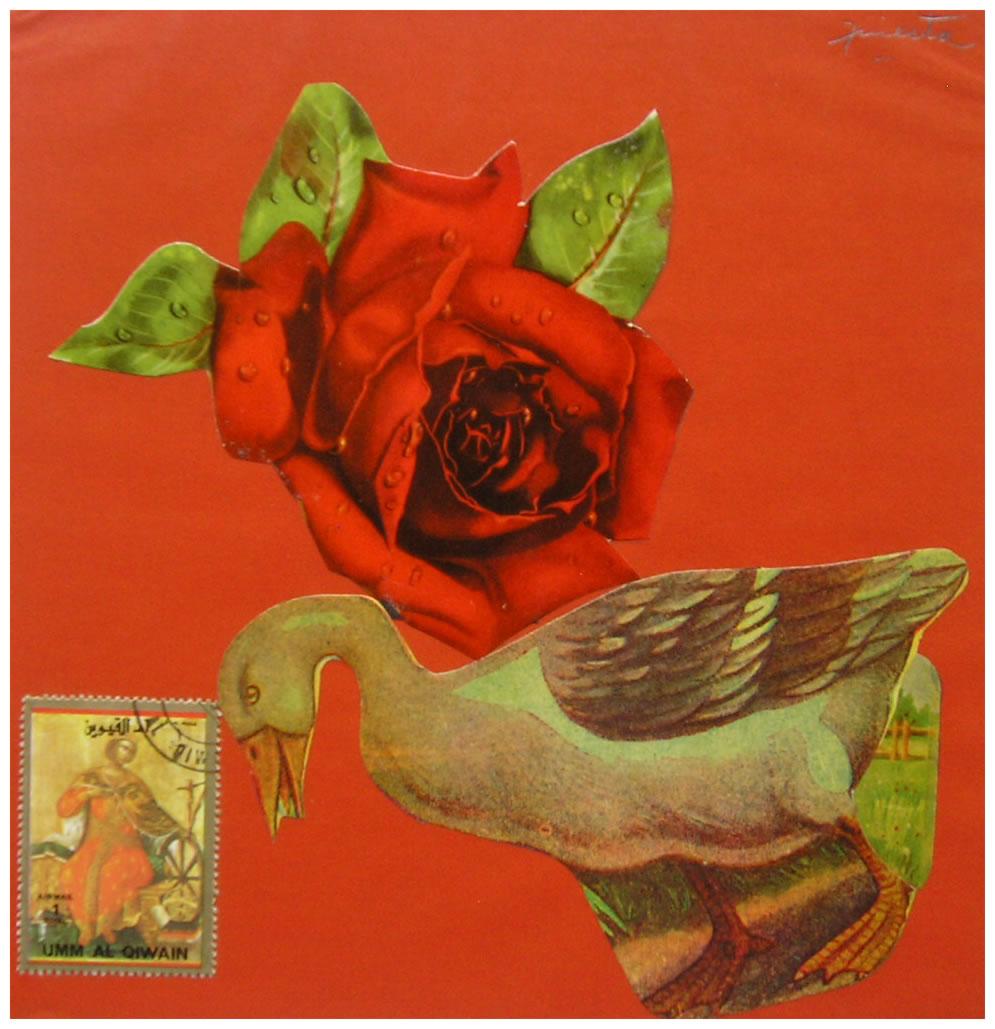 Pata,  papel collage, 15 cm x 15 cm, 1999