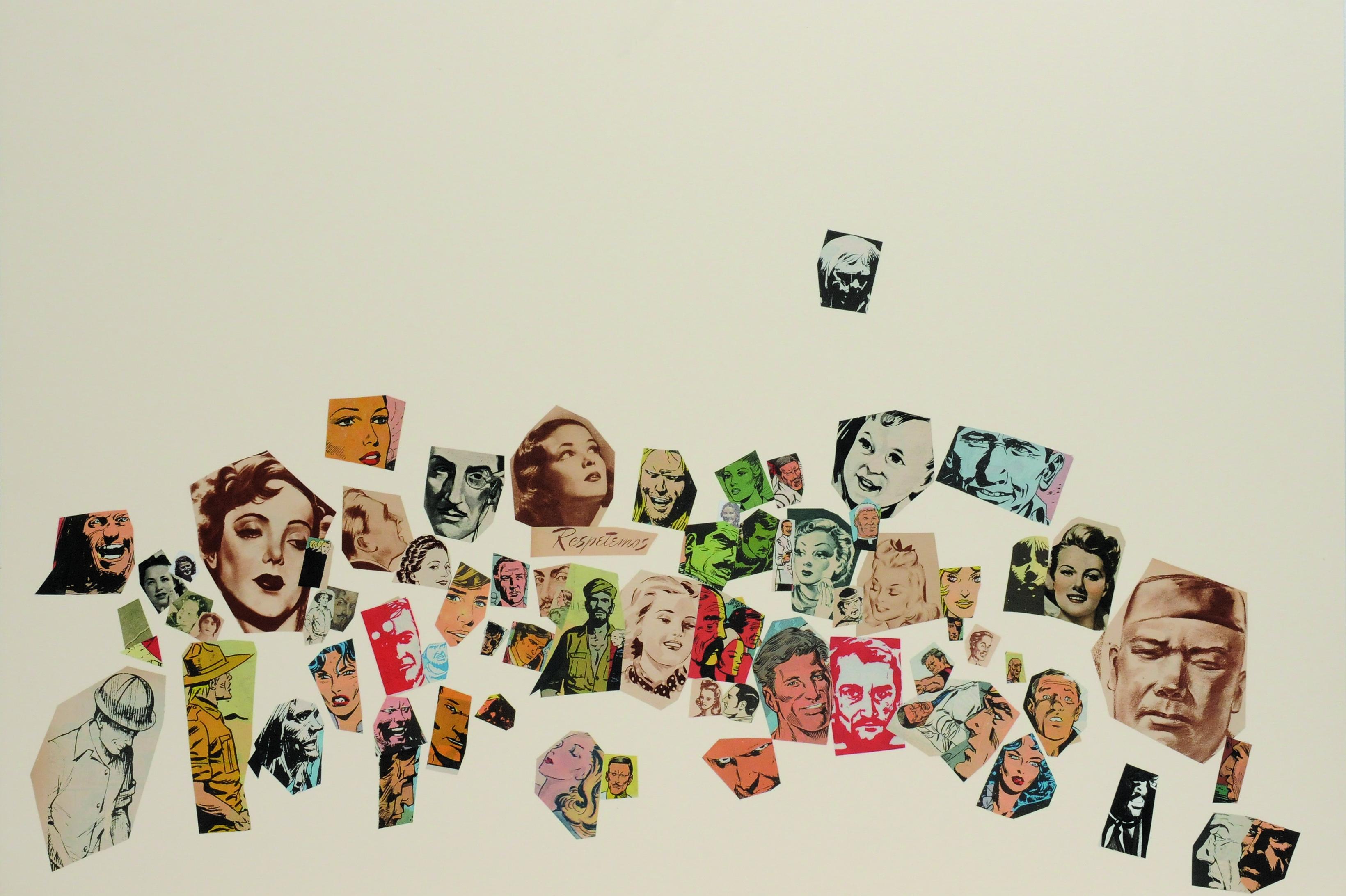 Respetemos, papel collage, 51 cm x 76 cm. 2008