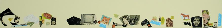 Sin Título, papel collage, 13,5 cm x 101 cm. 2008