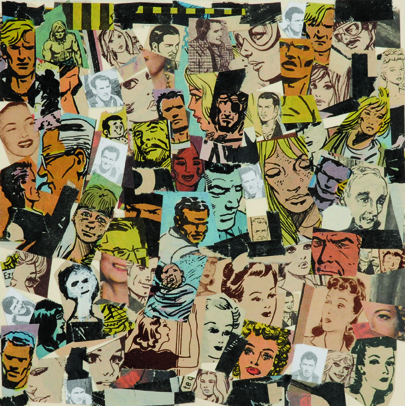 Sin Título, papel collage, 13,5 cm  x 13,5 cm. 2008