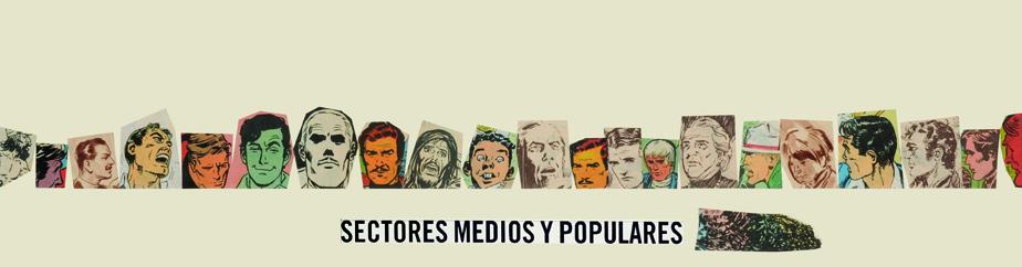 Sectores medios y populares, papel collage, 13,5 cm x 50 cm. 2008