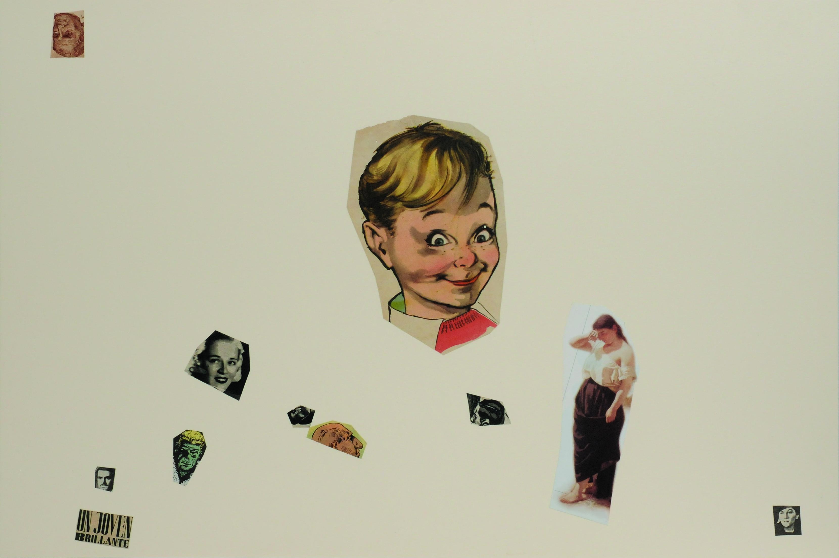 Un joven brillante, papel collage, 51 cm x 76 cm. 2008