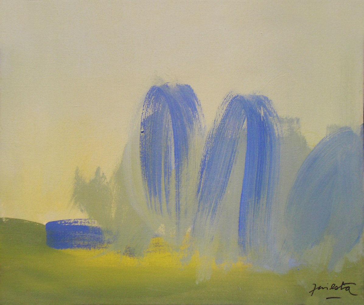 Paisaje,acrílico sobre tela, 50 cm x 60 cm, 1989
