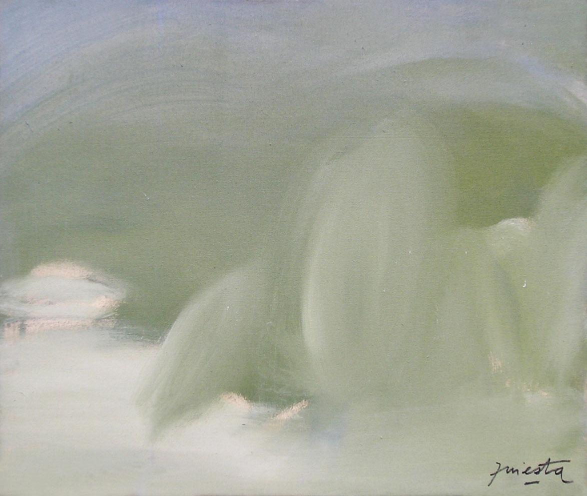 Paisaje, acrílico sobre tela, 50 cm x 60 cm, 1989