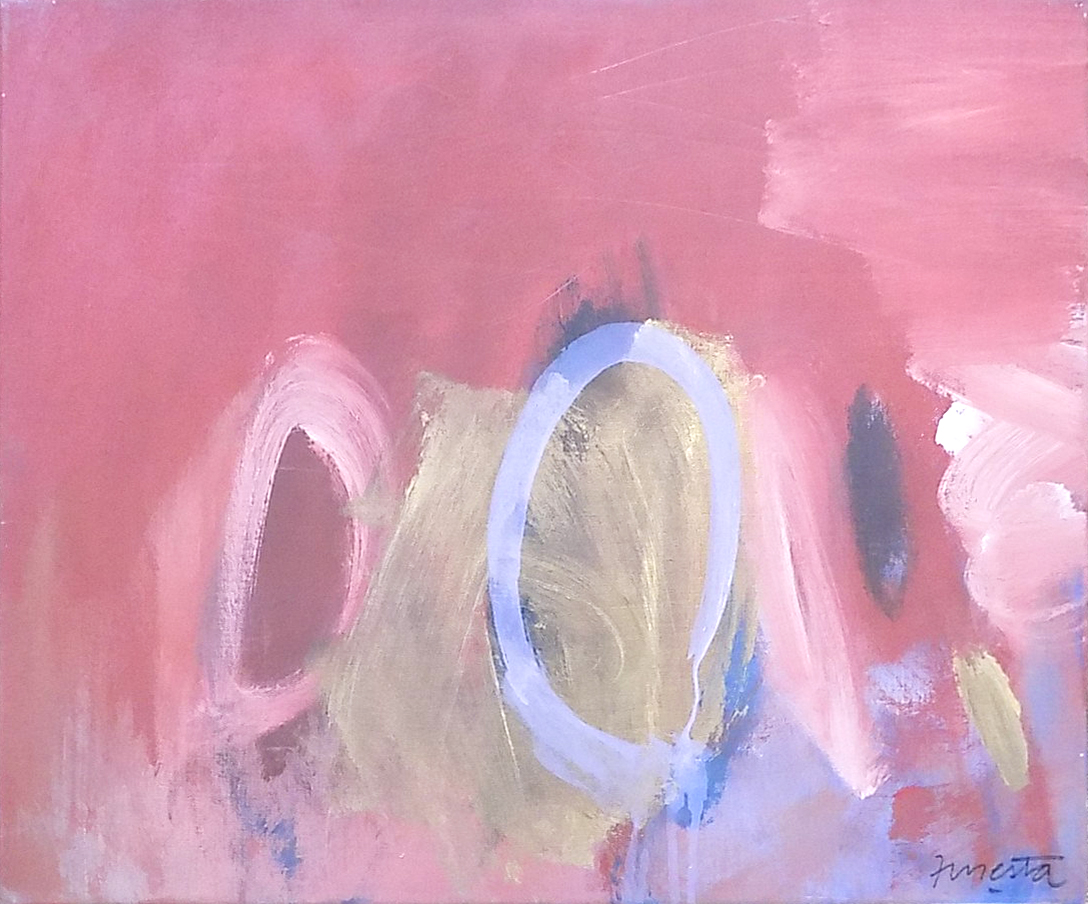 Paisaje, pintura sobre lienzo, 50 cm x 60 cm, 1989