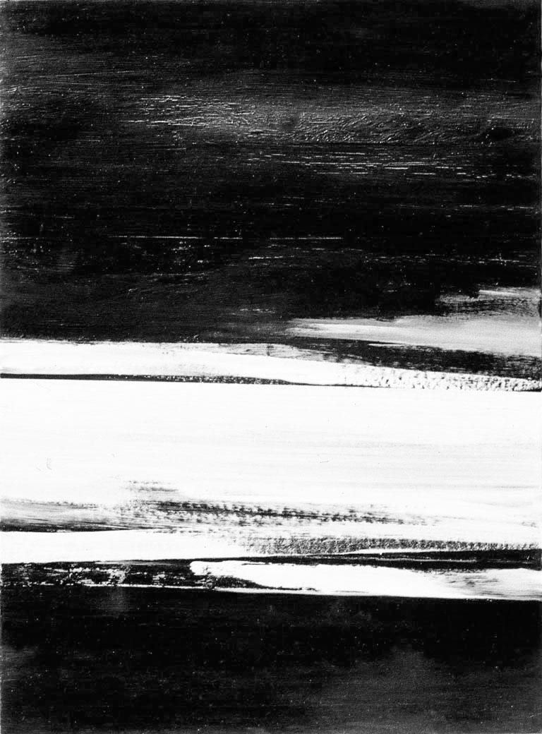 Paisaje,  acrílico sobre hardboard, 24 cm x 30 cm, 1971-1972