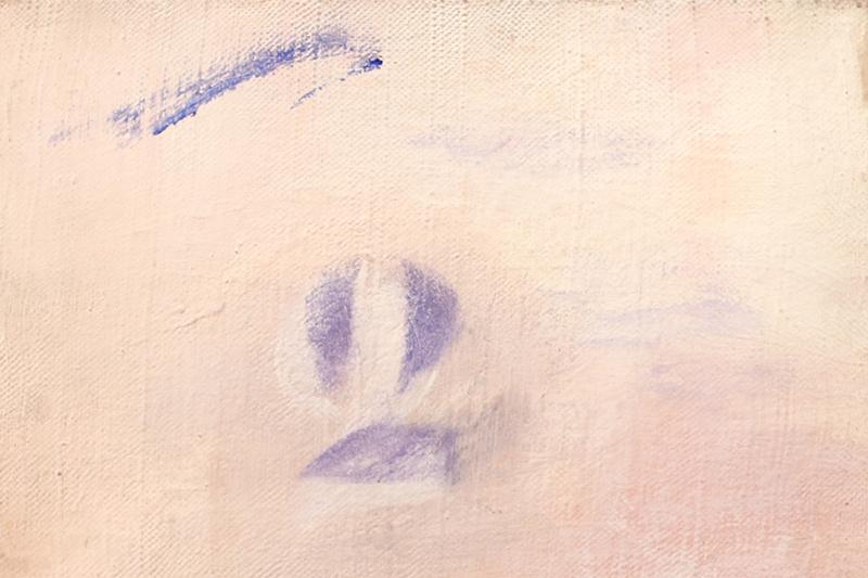Dos, serie, acrílico sobre tela, 19 cm x 27 cm, 1992, París
