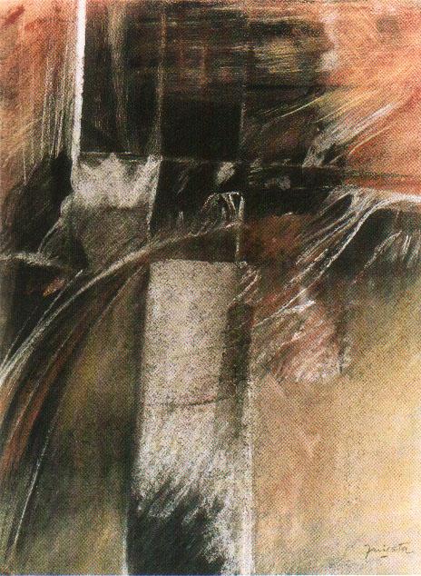 El Miedo, carbonilla lápiz y pastel 19,5 cm x 26,5 cm, 1973