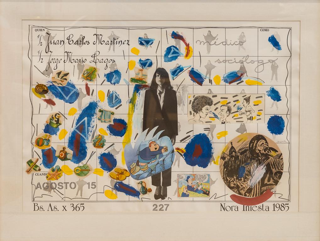 Serie Bs As x 365, Diciembre 23, papel collage, 48,5 cm x 70 cm, 1985