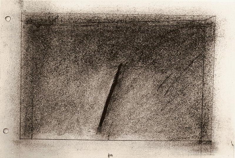 Lunes, calculando el futuro, técnica mixta, 25,5 cm x 19 cm, 1984