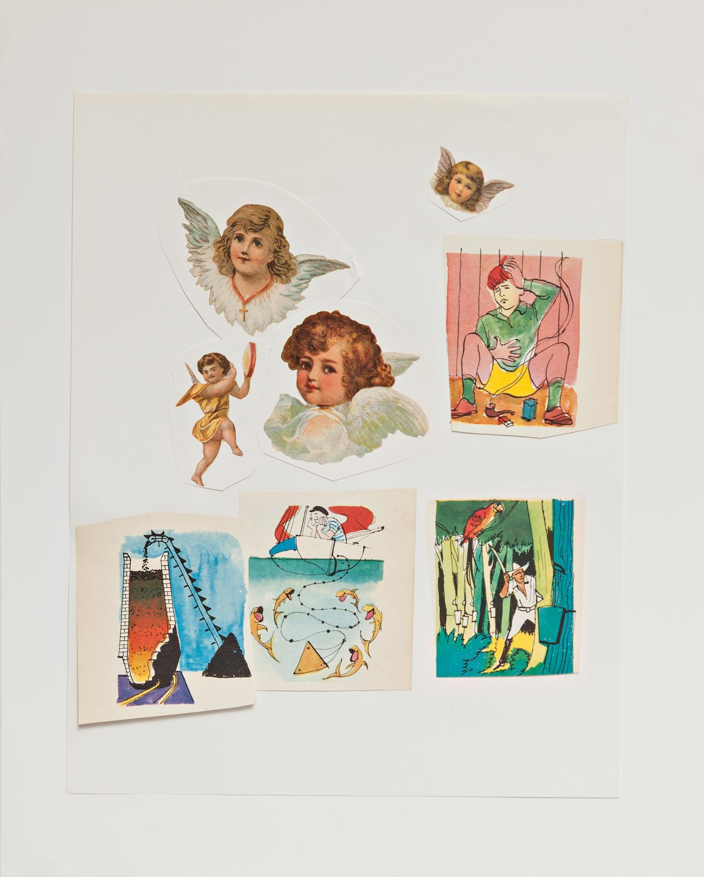 Serie Cuarentena, papel collage, 35 cm x 28 cm, 2020