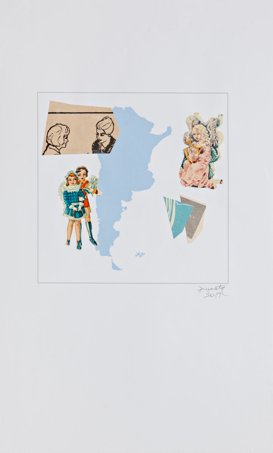 Serie verano, papel collage, 35,5 cm x 21,5 cm, 2020