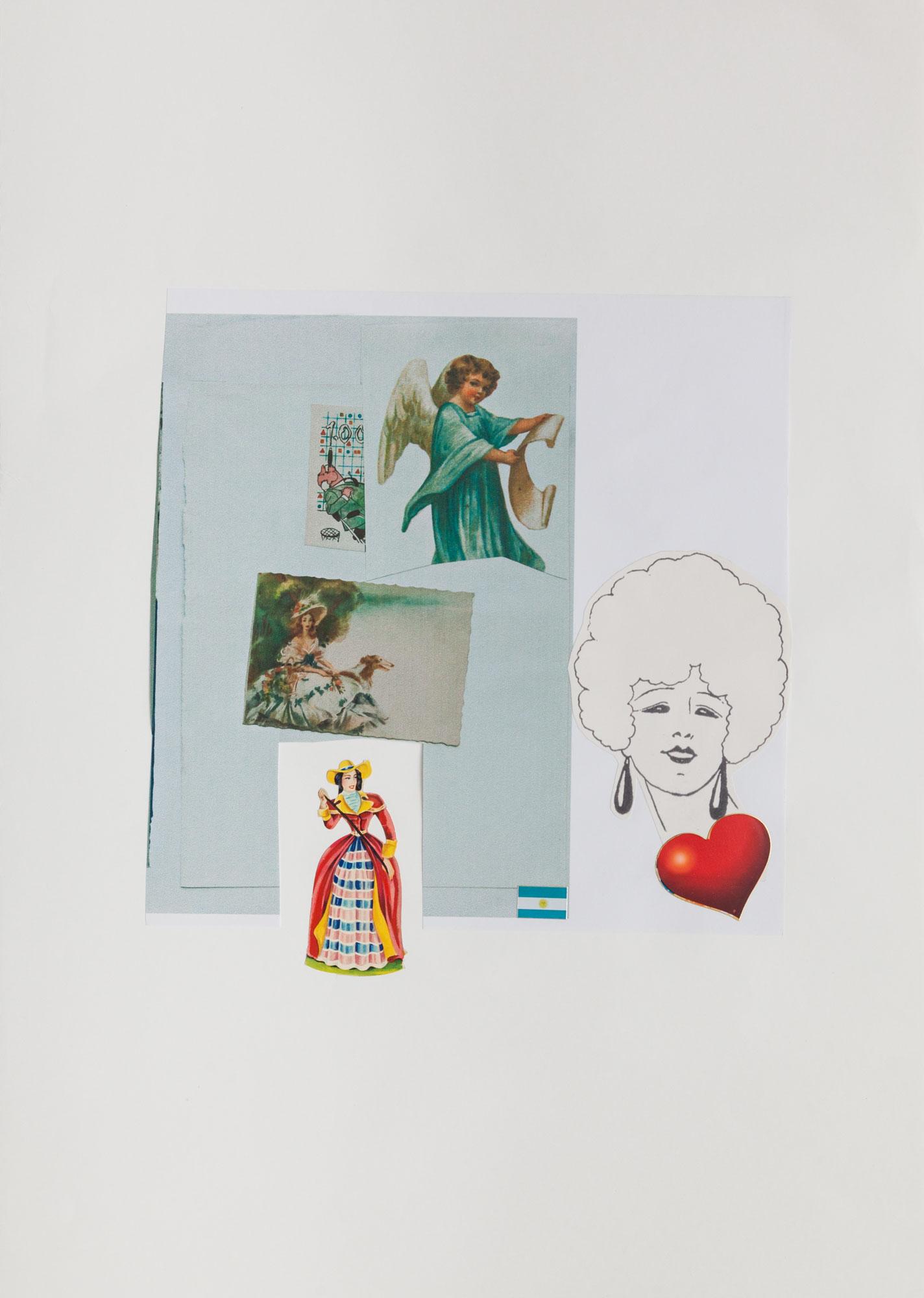 El amor, serie La sutileza de la imagen_papel collage 44 cm x 31 cm 2020