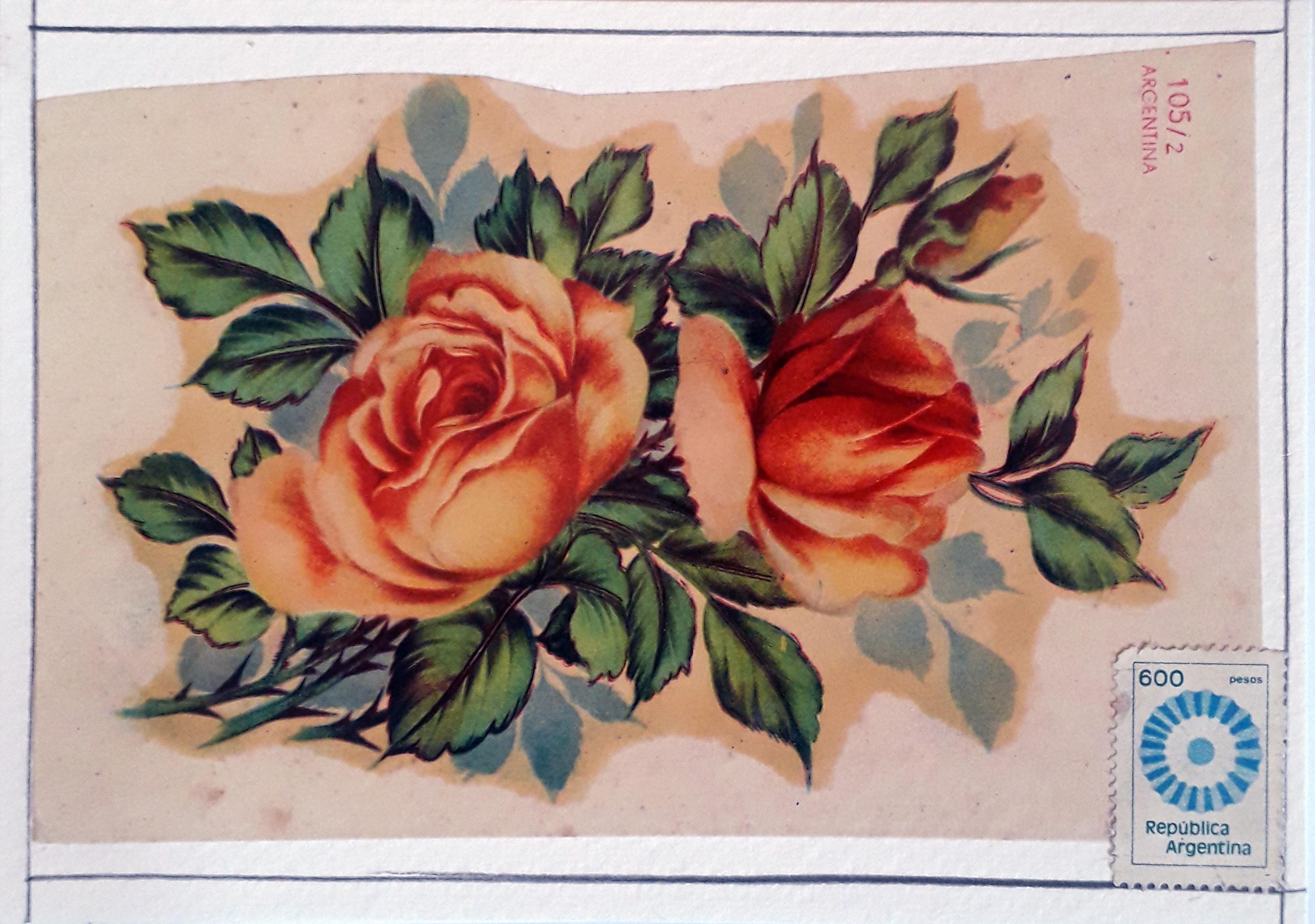 Serie pequeño formato, papel collage sobre tarjeta postal, 10 cm x 15 cm, 2020